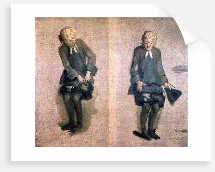 Two Sketches of David Garrick in Character, 18th century by Johann Zoffany