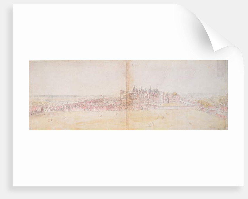 Richmond Palace from the North-East, 16th century by Anthonis van den Wyngaerde