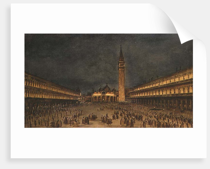 A Night Procession in the Piazza San Marco, 1750-60 by Francesco Guardi