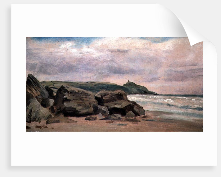 View towards Rame Head, Cornwall, 19th century by Lionel Constable