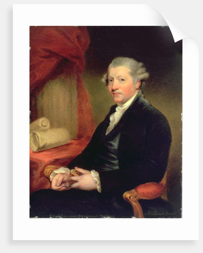 Portrait of Joshua Reynolds, 18th century by Charles Bestland