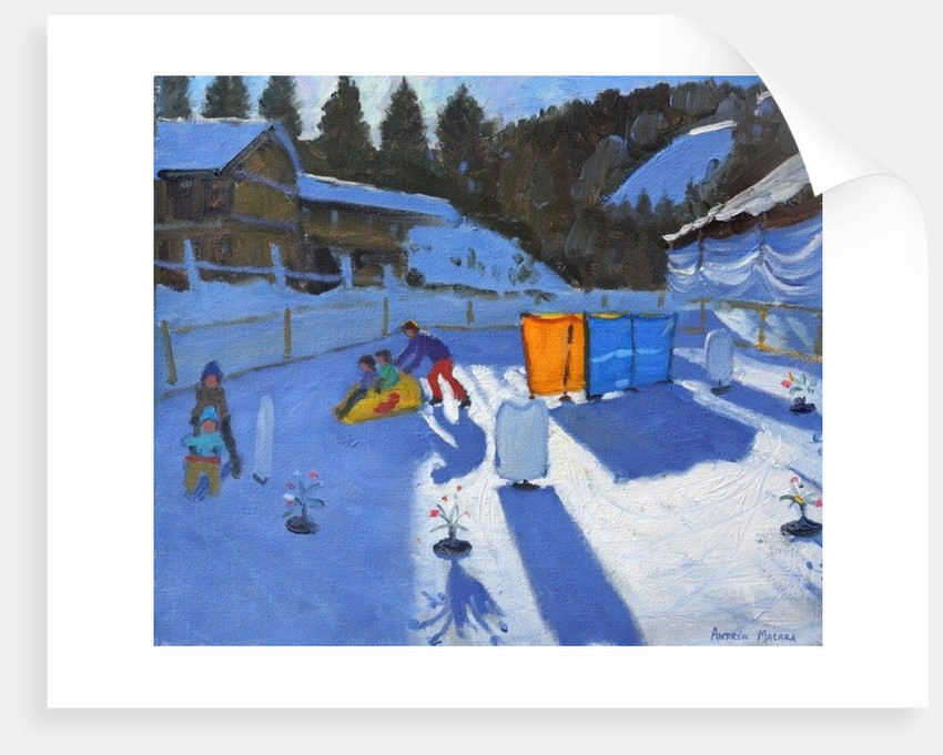 childrens ice rink,Clusaz by Andrew Macara
