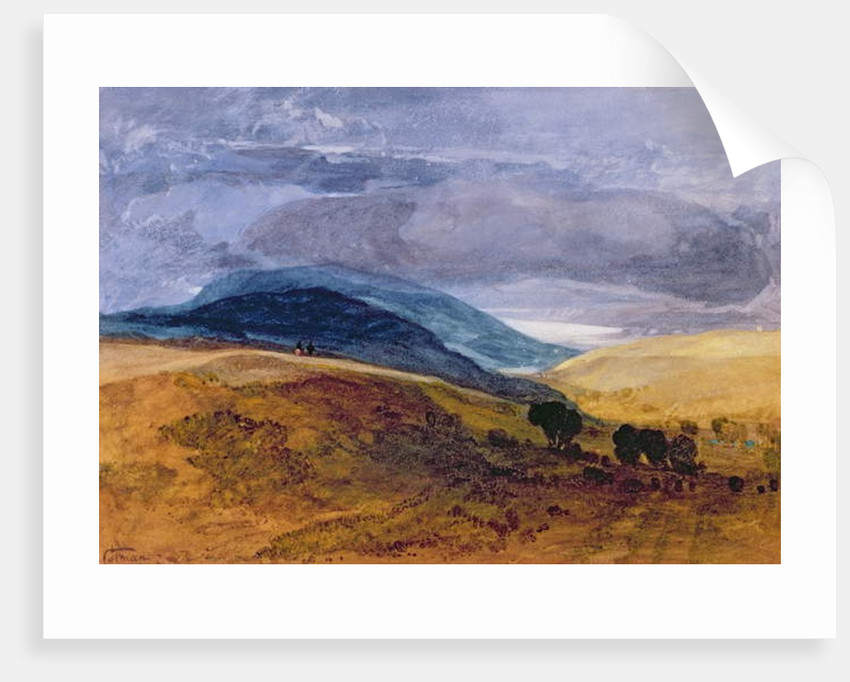 On the Downs by John Sell Cotman