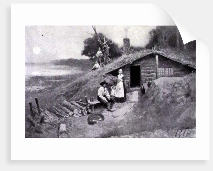 A Pennsylvania Cave-Dwelling by Howard Pyle