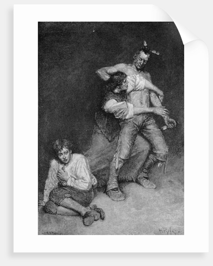 The Woman Turned Fiercely upon the Chieftain by Howard Pyle