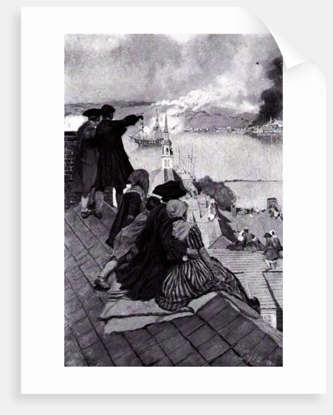 Watching the Fight at Bunker Hill by Howard Pyle