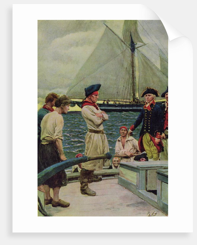 An American Privateer Taking a British Prize by Howard Pyle
