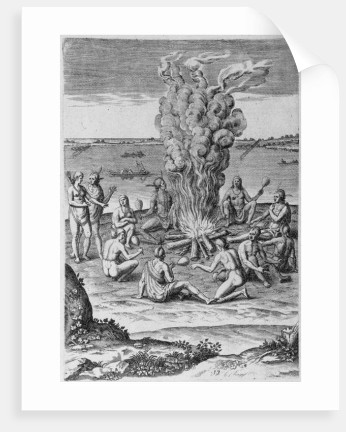 Indians around a Fire by John White