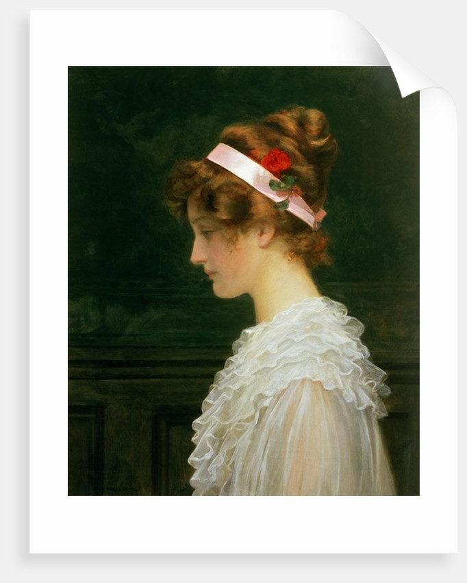 Profile of a young girl by Marcus Stone