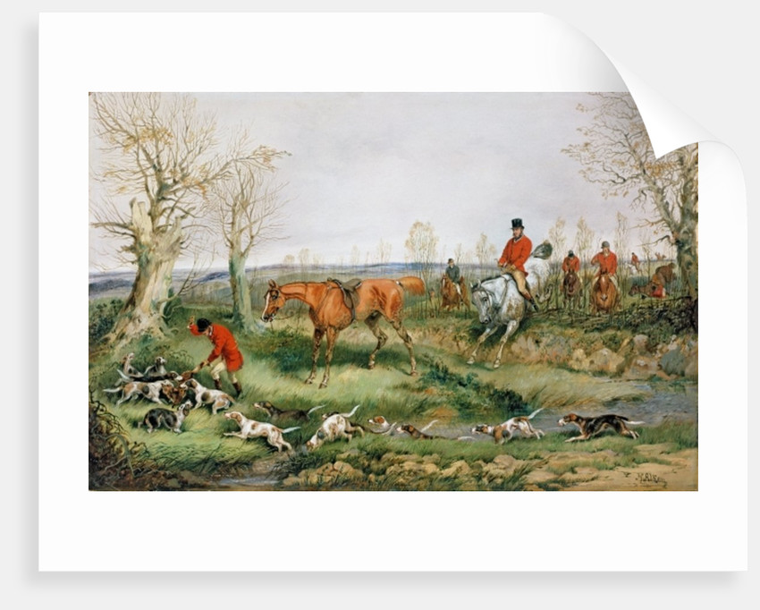 Hunting Scene by Henry Thomas Alken