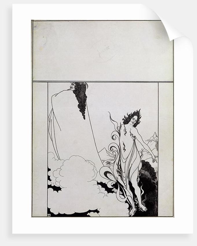 Fourth tableau of Das Rheingold by Aubrey Beardsley