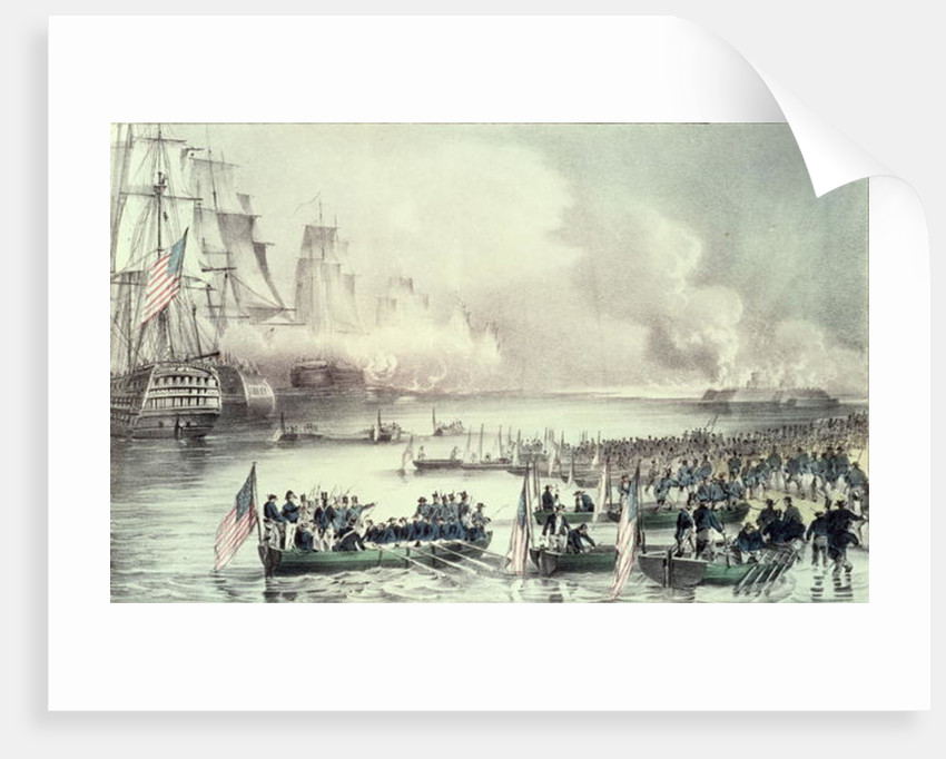 Royal Squadron off the Coast by N. and Ives