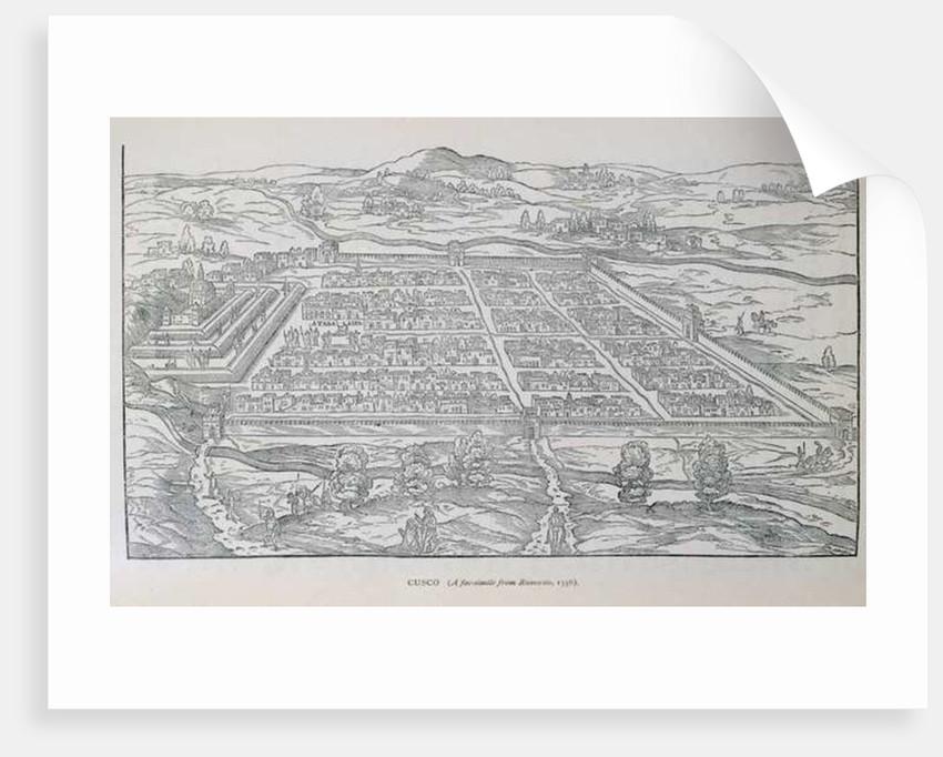 View of Cusco by Italian School