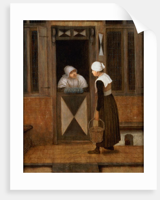 A Conversation in the Street by Jacobus Vrel or Frel