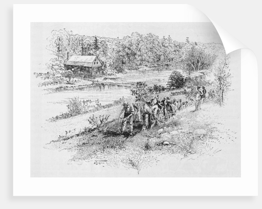 Jericho Mills: Union engineer corps at work by Alexander Gardner