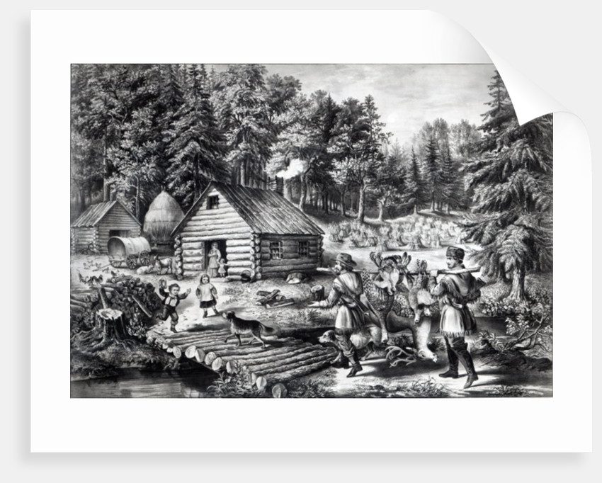 The Pioneer's Home on the Western Frontier by American School