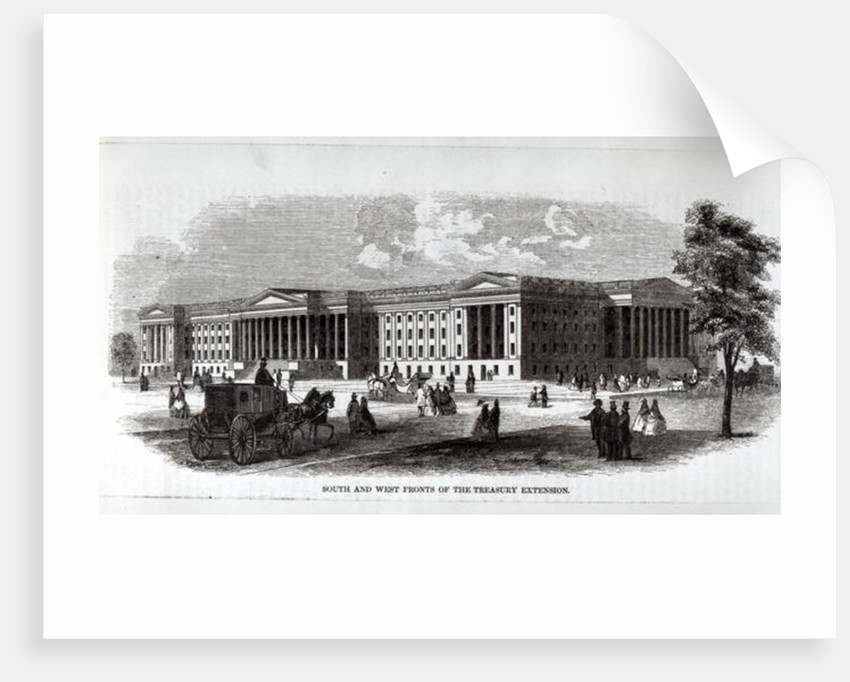 South and West Fronts of the Treasury Extension by American School