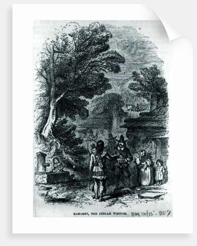 Samoset, the Indian Visitor by American School