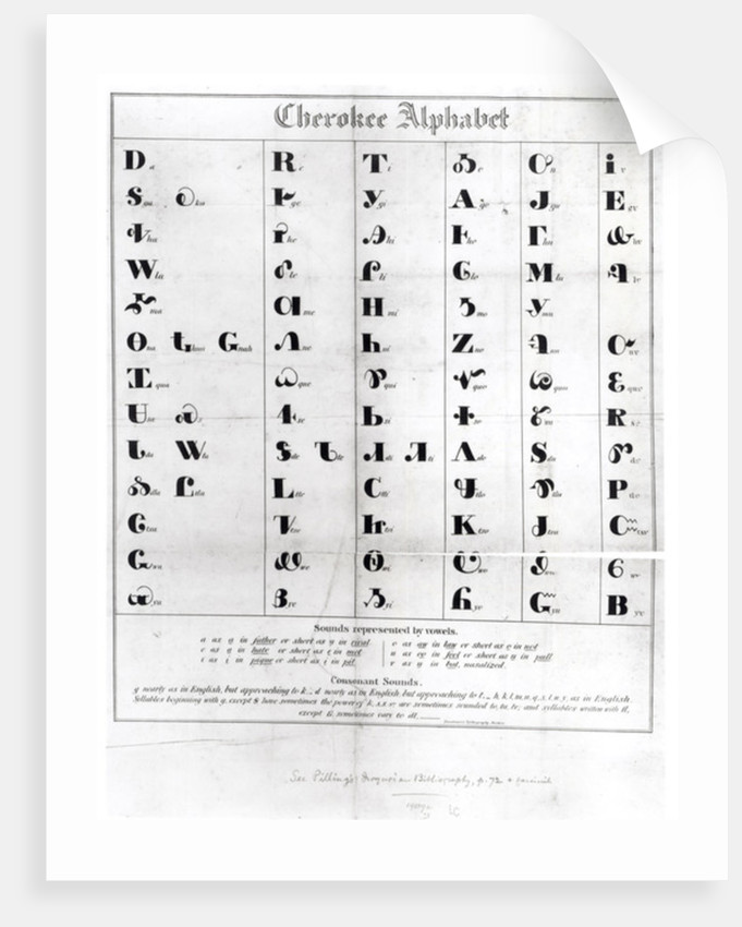 Cherokee Alphabet by American School
