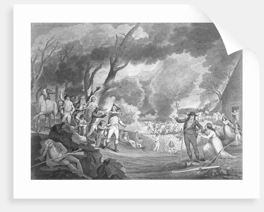 Battle of Lexington, April 19th 1775, engraved by Cornelius Tiebout by Elkanah Tisdale