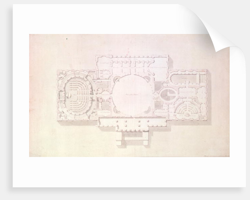 Plan of the Principal Story of the Capitol, U.S. by Benjamin Henry Latrobe