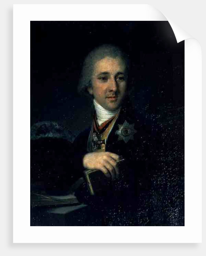 Portrait of the author Alexander Labsin by Vladimir Lukich Borovikovsky