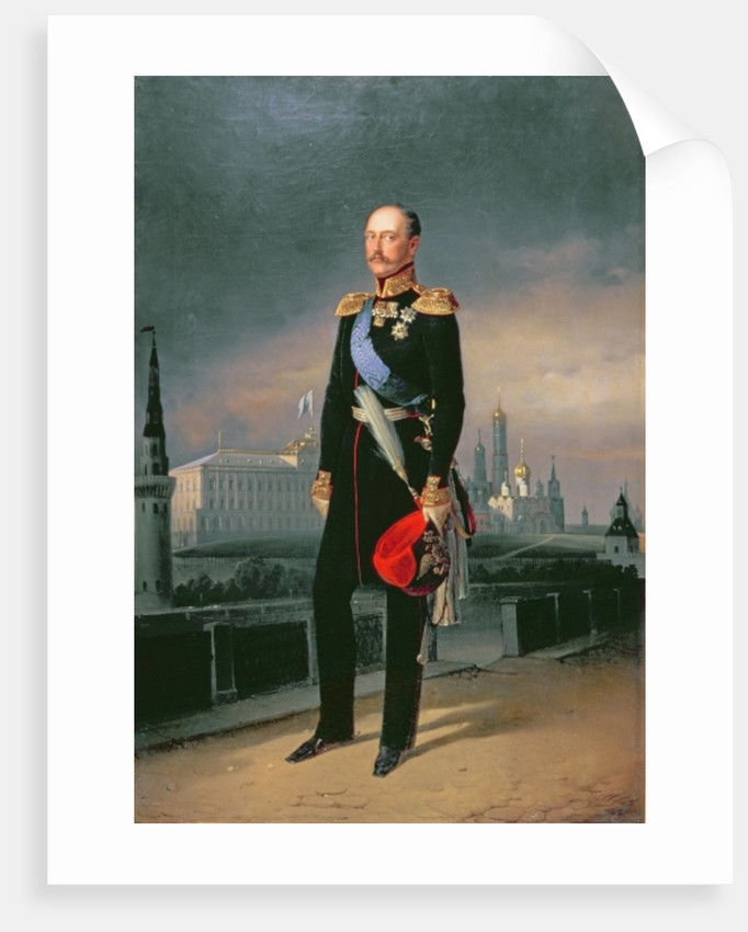Portrait of Emperor Alexander II by G. Botmann