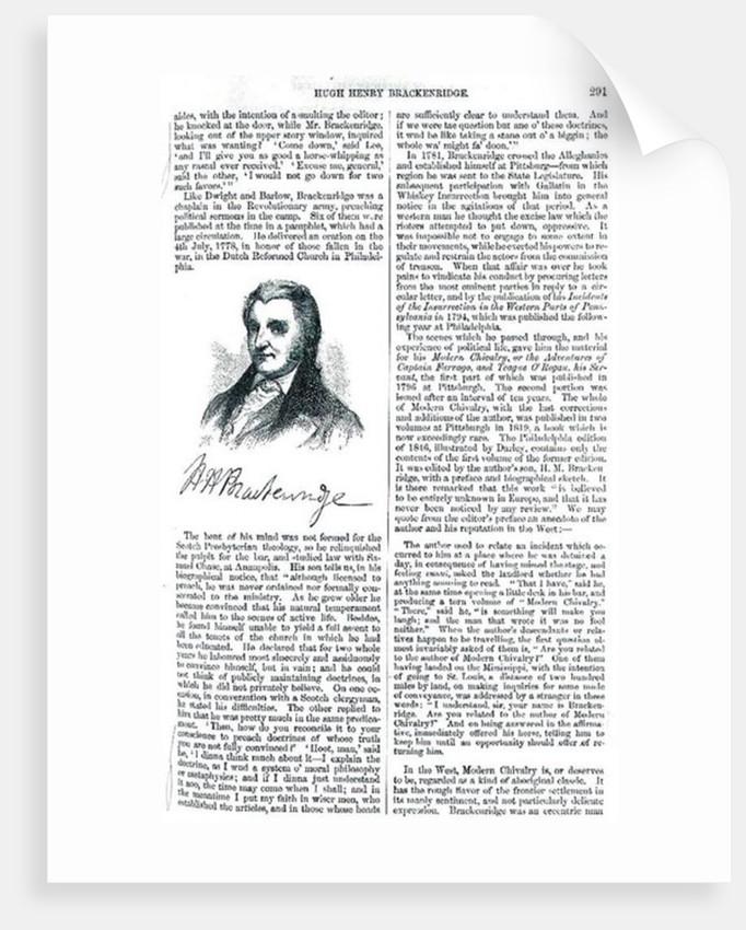Hugh Henry Brackenridge by American School