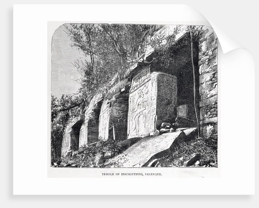Temple of Inscriptions, Palenque by French School