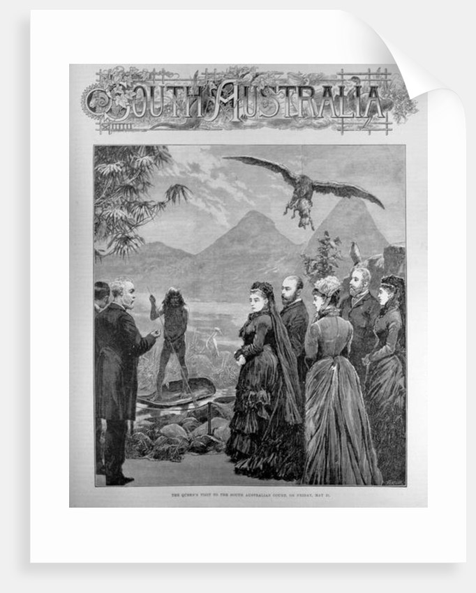 The Queen's Visit to the South Australian Court on Friday May 21st 1886 by English School