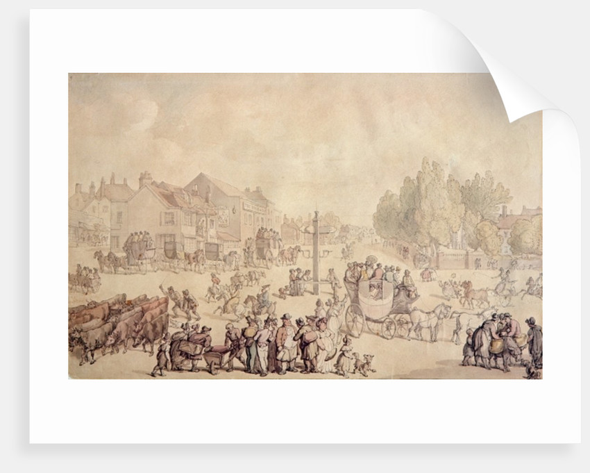 Elephant and Castle by Thomas Rowlandson