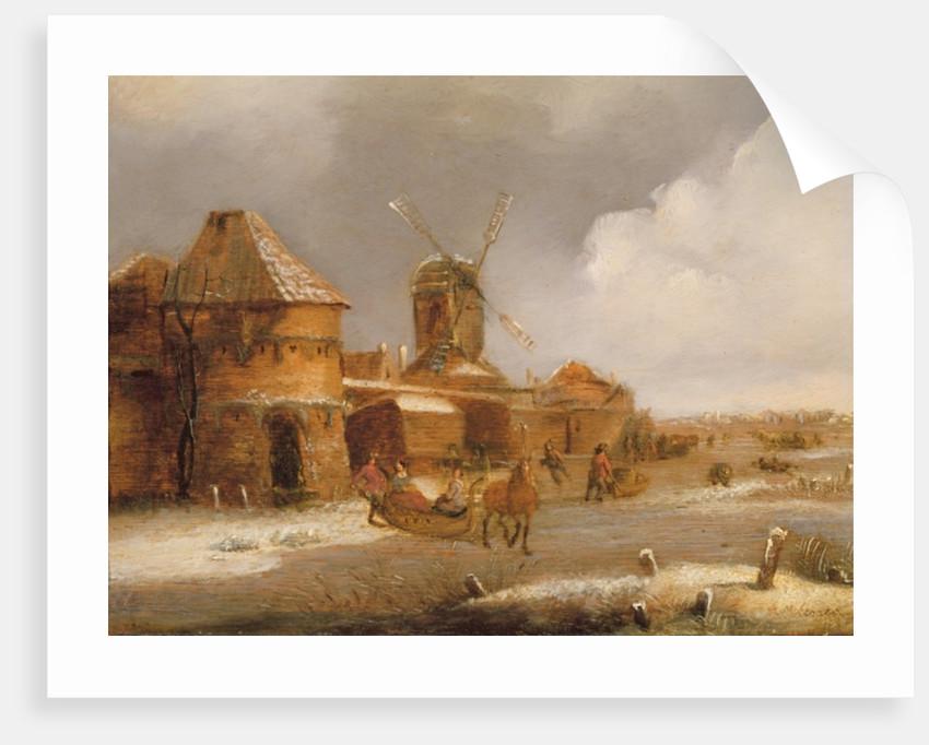 Winter Scene by Claes Molenaer