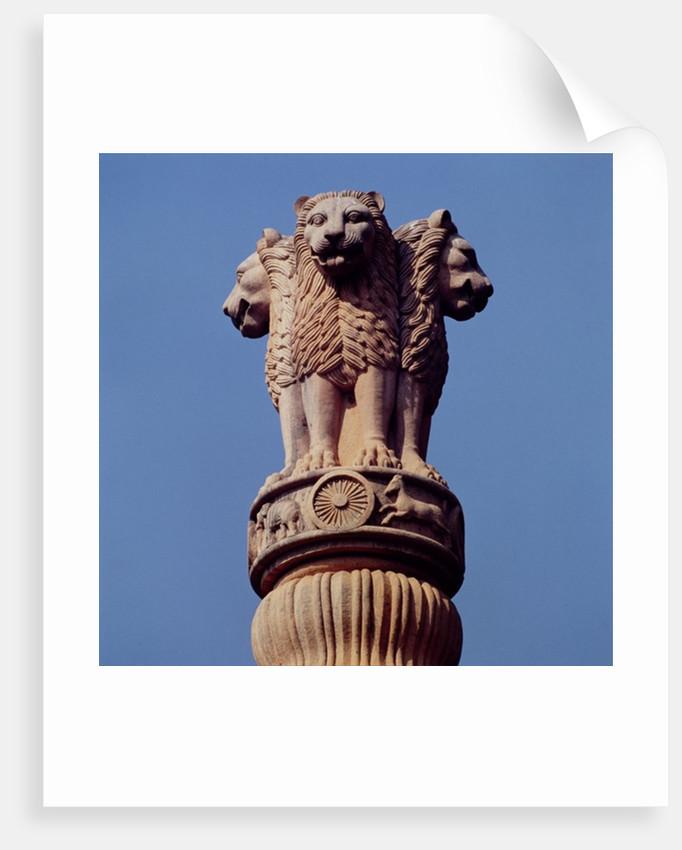 Detail from an Ashoka Pillar by Indian School