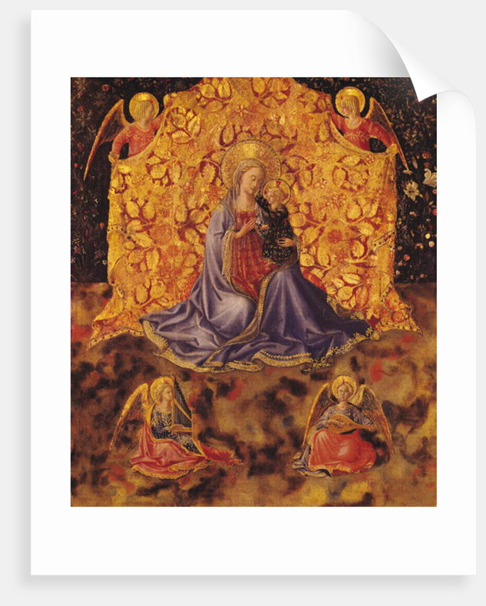 Madonna of Humility with Christ Child and Angels by Fra Angelico