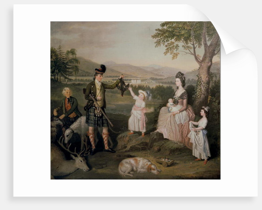 John, the 4th Duke of Atholl and his family by David Allan
