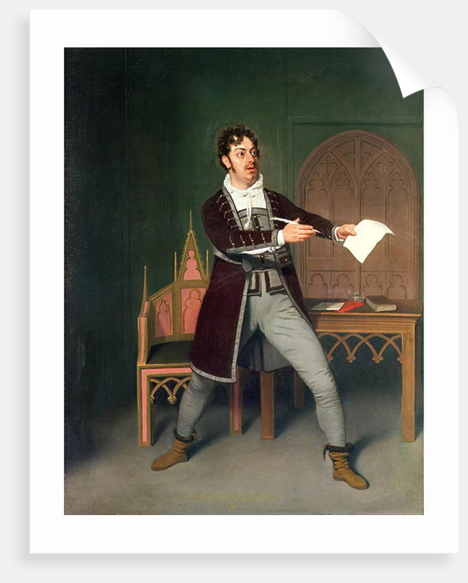 Charles Farley as Francisco in 'A Tale of Mystery' by Thomas Holcroft by Samuel de Wilde