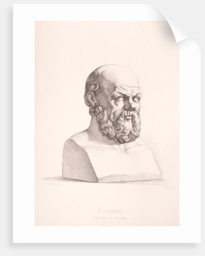 Portrait of Socrates engraved by B.Barloccini by C.C Perkins
