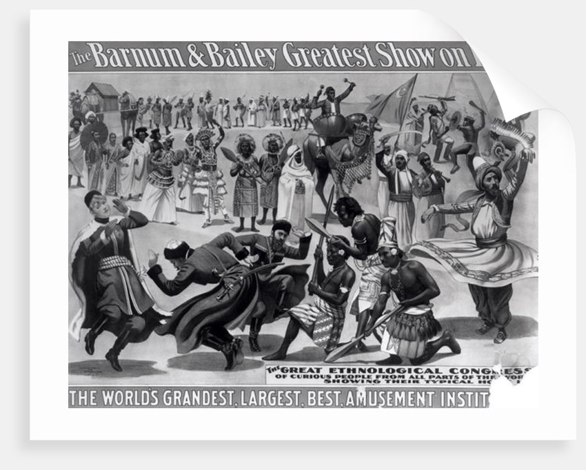 Poster advertising 'The Barnum and Bailey Greatest Show on Earth, the World's Grandest, Largest, Best Amusement Institution' by American School