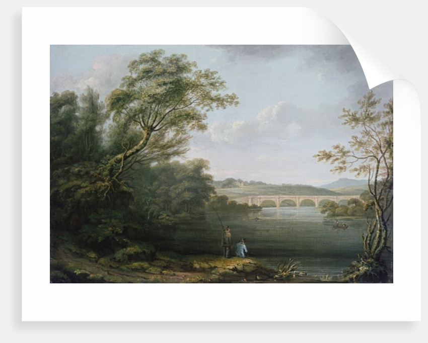 English Landscape with Fishermen by Anonymous