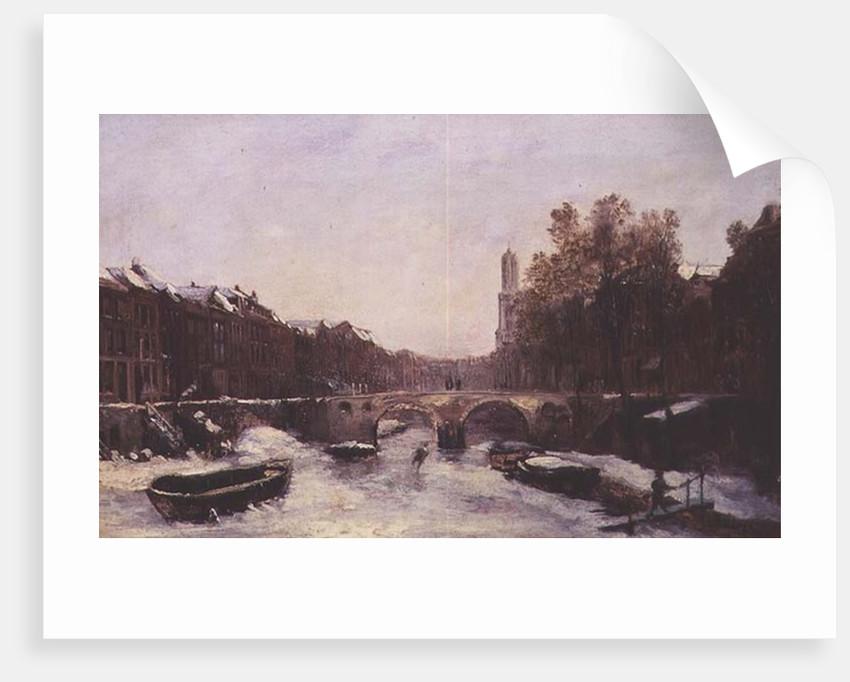 Dutch Town in Winter by Pierre Tetar van Elven