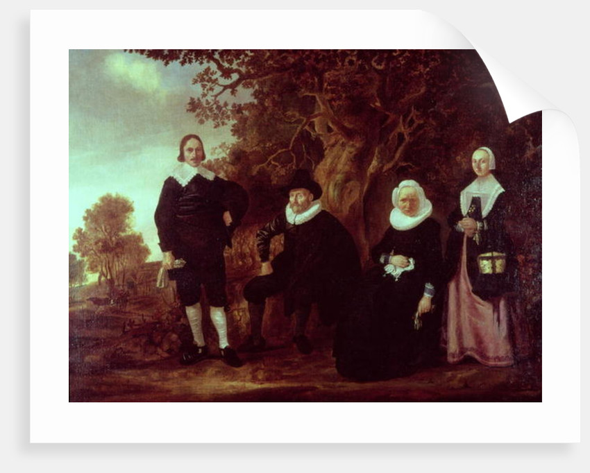 Family Group in a landscape by Gerrit van Donck