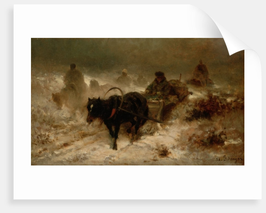 Returning Home by Adolf Schreyer