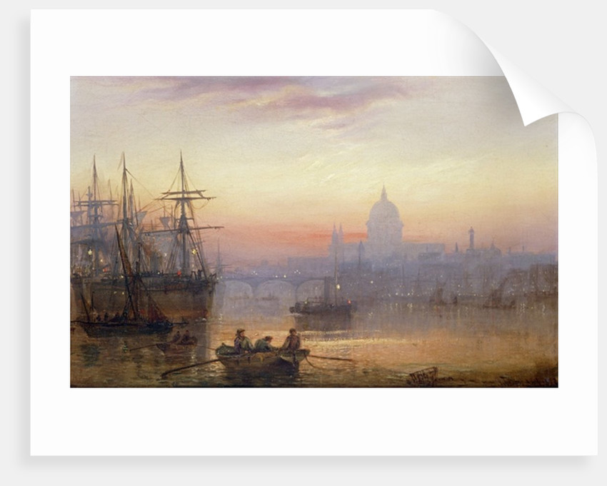 The Pool of London at Sundown by Charles John de Lacy