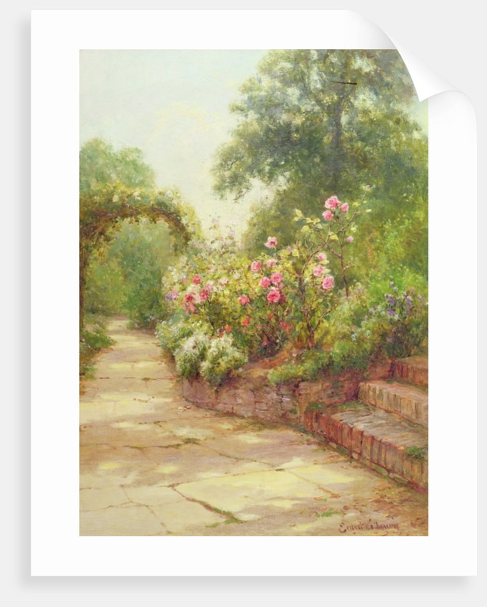 The Garden Steps by Ernest Walbourn