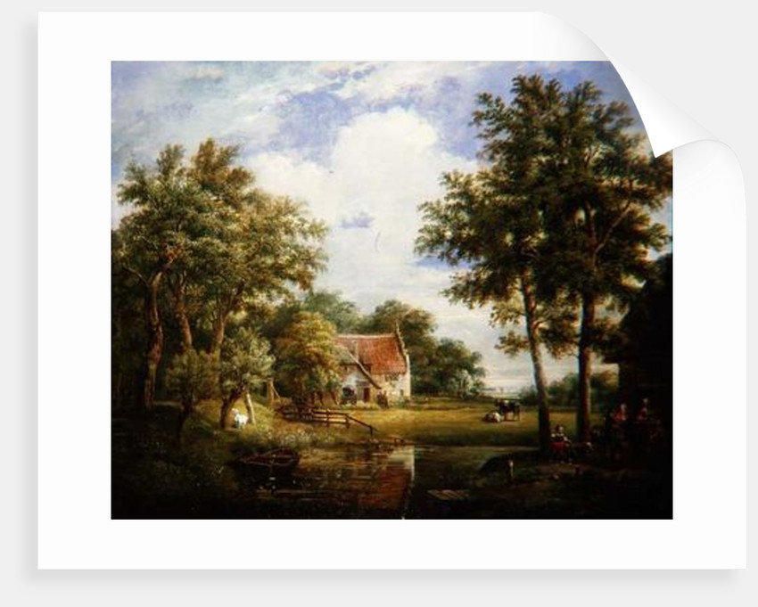 Dutch Farm Scene by Carel Lodewijk Hansen