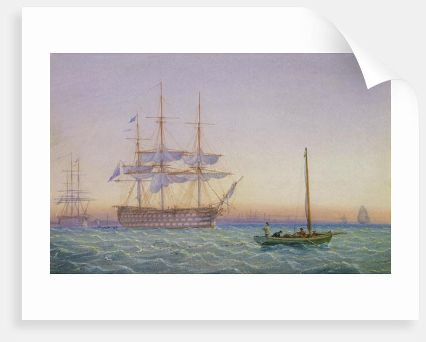H.M. Frigates at Anchor by John and William Joy