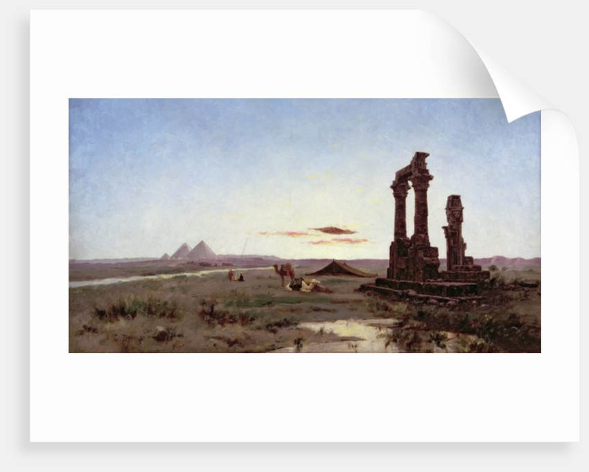 A Bedouin Encampment by a Ruined Temple by Alexandre Gabriel Decamps