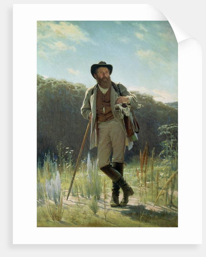 Portrait of Ivan Ivanovich Shishkin by Ivan Nikolaevich Kramskoy