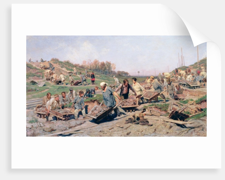 Repair Works on the Railway Line by Konstantin Apollonovich Savitsky
