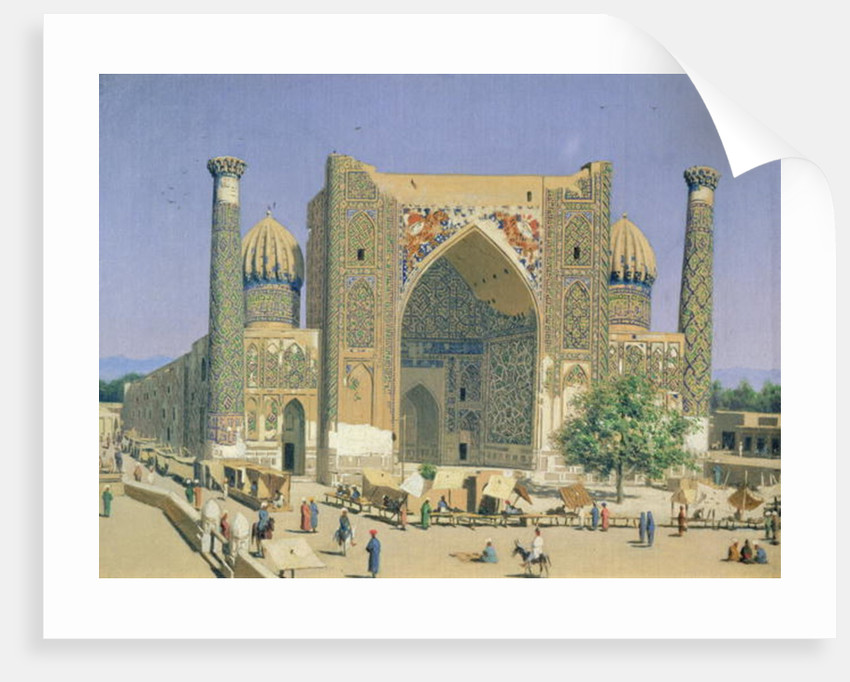 Medrasah Shir-Dhor at Registan place in Samarkand by Vasili Vasilievich Vereshchagin